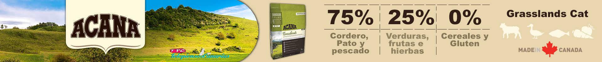 Acana grasslands cat and kitten, 75% de carne cordero