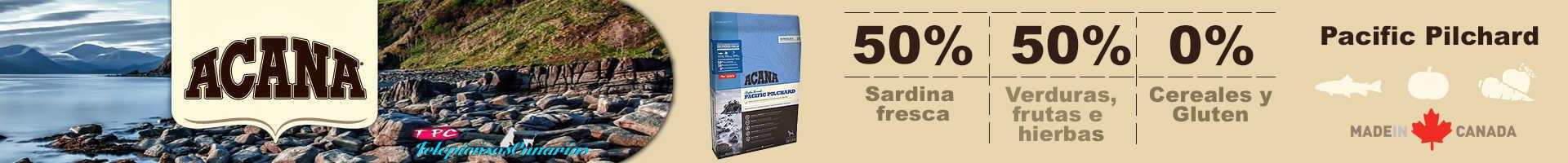 Acana Pacific Pilchard, 50% de sardinas y sin cereales