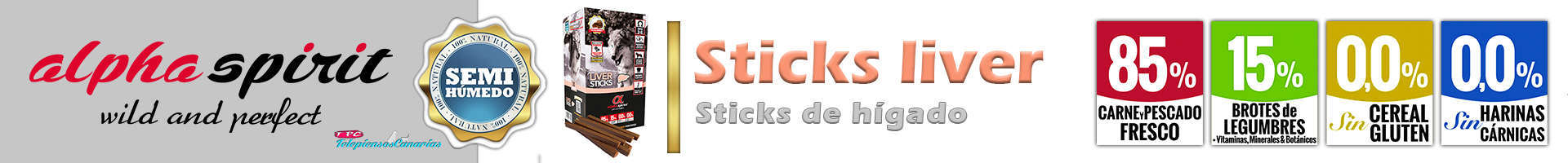 Alpha Spirit sticks liver, perfecto stick sano y natural