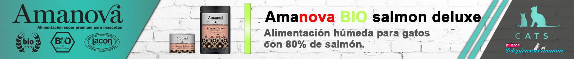 Amanova bio salmón, con 80,8% de pescado