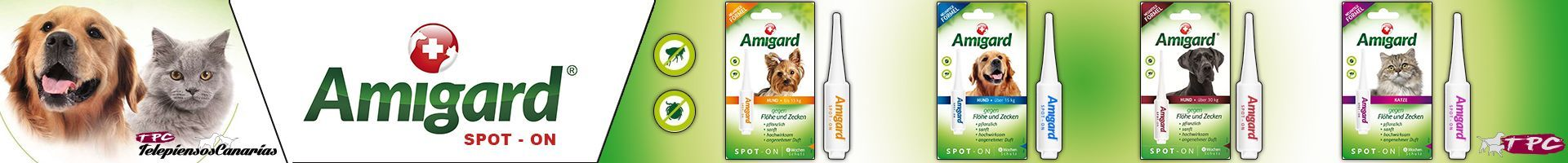 Antiparasitario Amigard Spot-on para gatos 100% natural