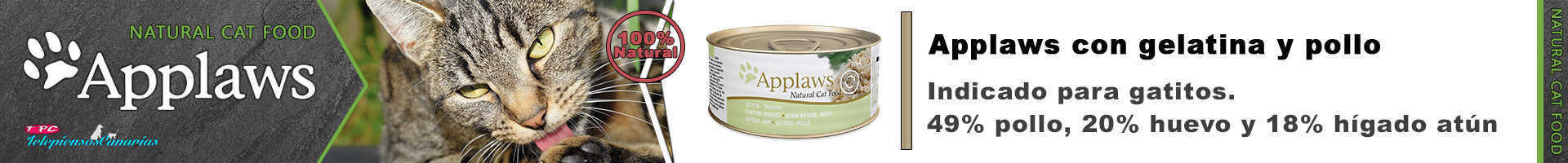 Applaws lata y gelatina de pollo para gatitos con pechuga de pollo 49%