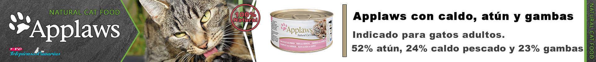 Applaws lata con caldo, atún y gambas para gatos adultos