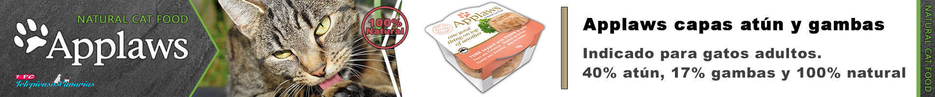 Applaws tasty capas con atún y gambas