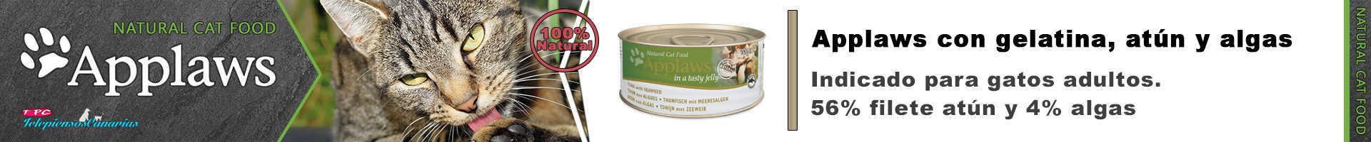 Applaws lata con gelatina de atún y alga. Atún entero 56% y algas 4%