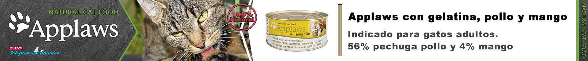 Applaws lata con gelatina, pollo 56% y mango 4%
