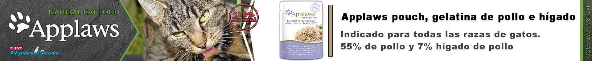 Applaws pouch con gelatina de pollo e hígado