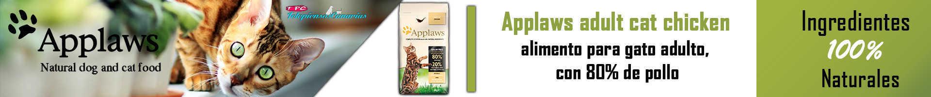Applaws alimento para gato adulto, con 80% de pollo