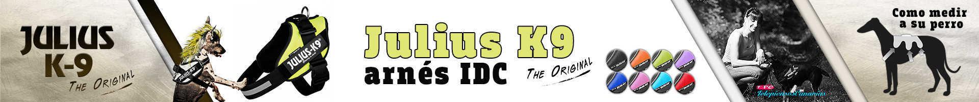 Julius-K9 arnés idc de color amarillo, deportivo y transpirable