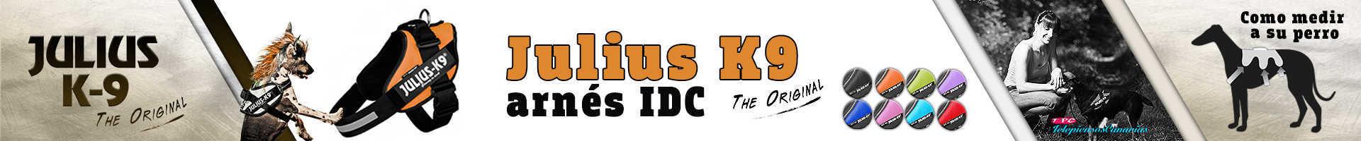Julius-K9 arnés idc color naranja, con un aspecto renovado