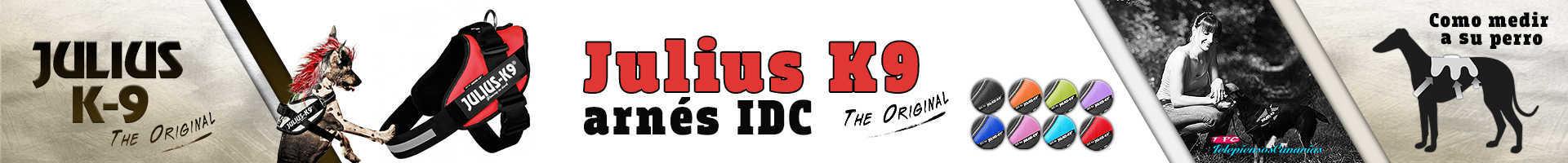 Julius-K9 arnés idc color rojo, innovación y comodidad