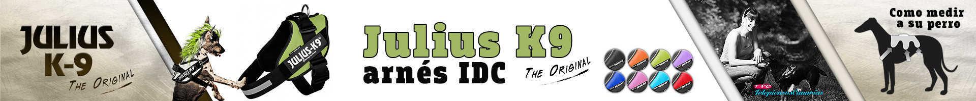 Julius-K9 arnés idc color verde, alta visibilidad