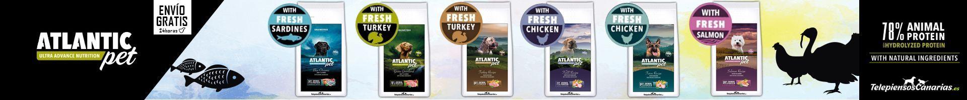 Atlantic pet pienso perros telepeiensoscanarias promocion 2020