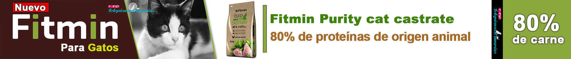 Fitmin Purity cat castrate, para gatos castrados