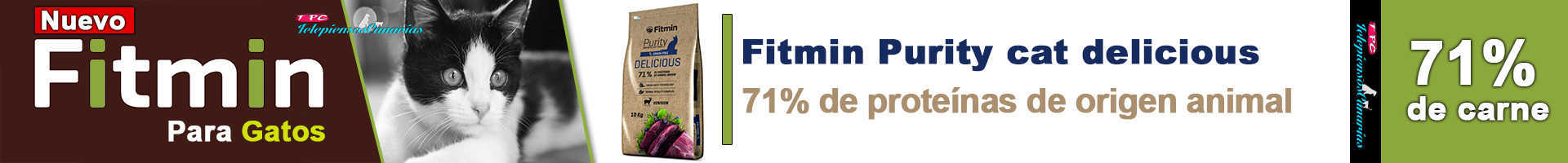 Fitmin Purity delicious gatos, con carne de venado fresca 25%,