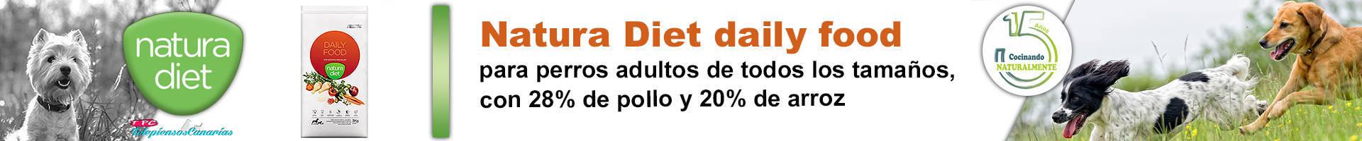 Natura diet daily food para perros adultos de todas la razas y tamaños
