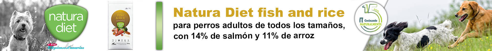 Natura diet fish and rice alimento para perros rico en for Fish and rice diet