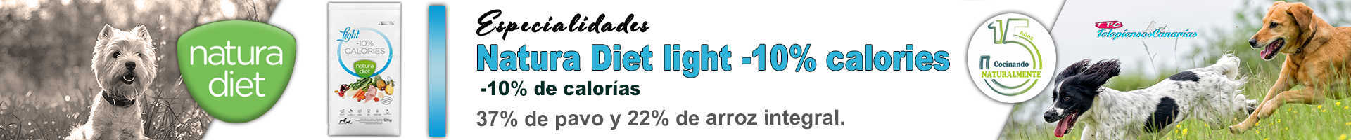 Natura diet light -10% de calorías, dieta natural y nutritiva