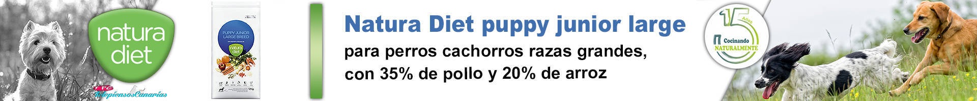 Natura diet puppy junior large breed pienso para razas grandes