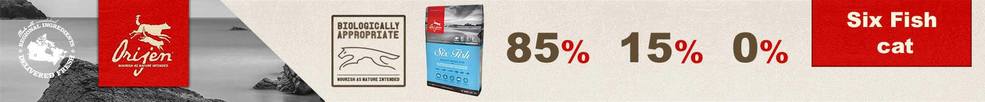 Orijen 6 fish cat, para gatos y gatitos con sardinas, merluza y caballa