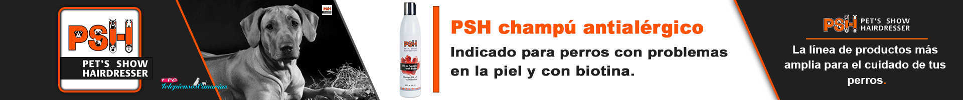PSH champú para perros con biotina, antialérgico
