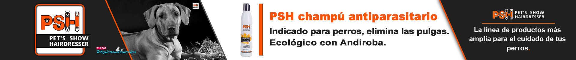 PSH champú antiparasitario elimina pulgas y garrapatas de los perros