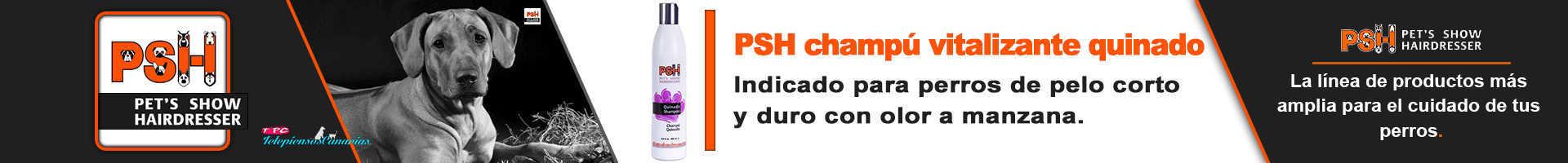 PSH champú vitalizante quinado para perros de pelo corto y duro