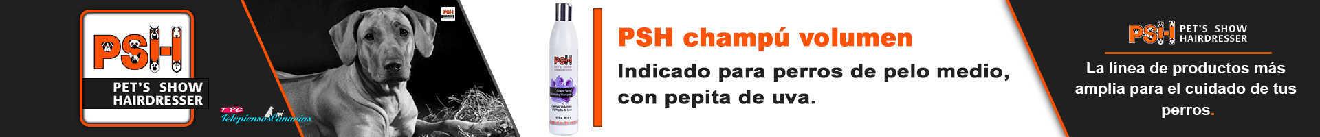 PSH champú volumen para perros de razas de pelo medio y corto