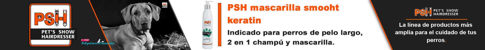 PSH mascarilla para perros Smooth keratin, para razas de pelo largo y lacio