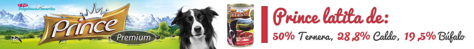 Prince latita de ternera (50%), buffalo (19,5%) y espinacas