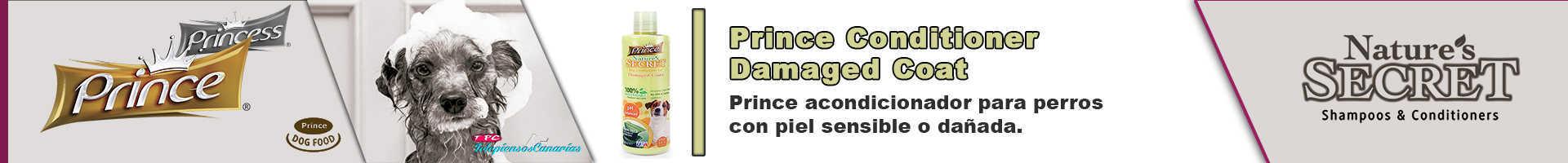 Prince acondicionador para perros con piel sensible