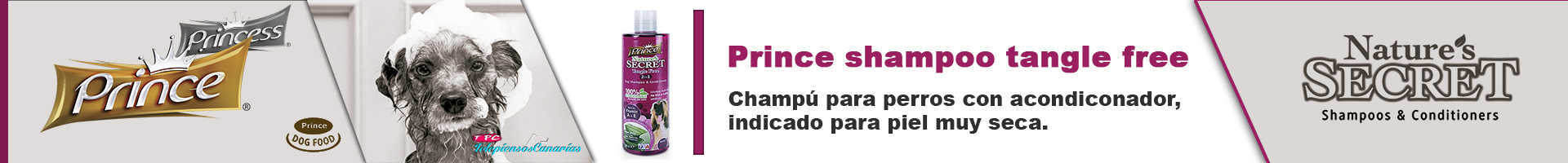 Prince champú con acondicionador para perros con camomila