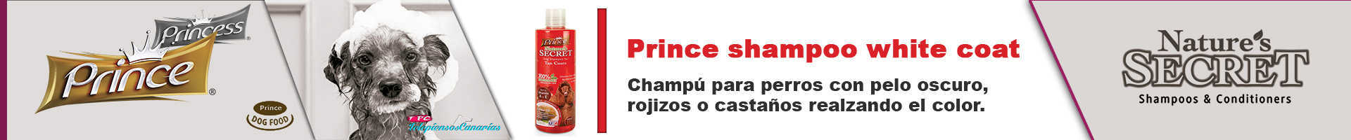 Prince champú pelo oscuro, rojizos o castaños realza el color