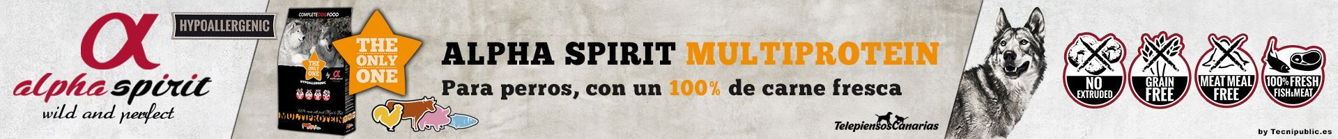 Alpha Spirit alimento multiprotein, pienso 100% natural