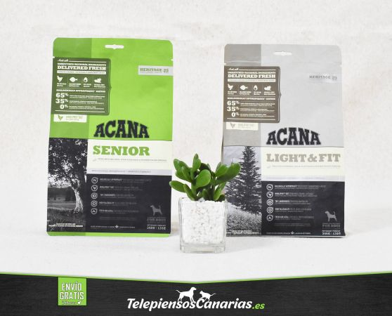 Acana pienso para perros Senior y Light