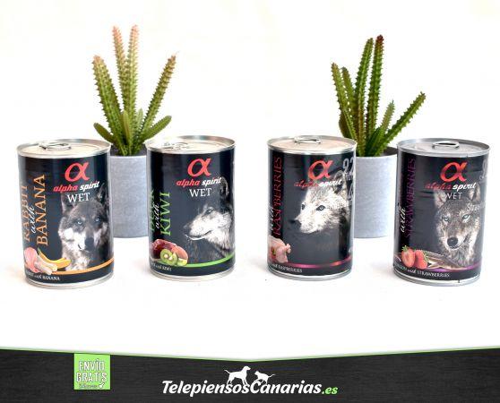 Alpha spirit comida húmeda para perros