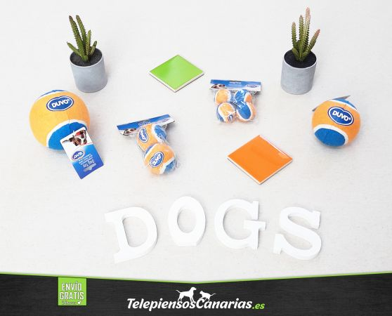 Duvo juguete para perros con forma pelota de tenis