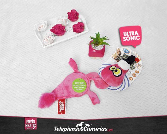 Duvo juquete ultrasonico para perro con forma flamingo