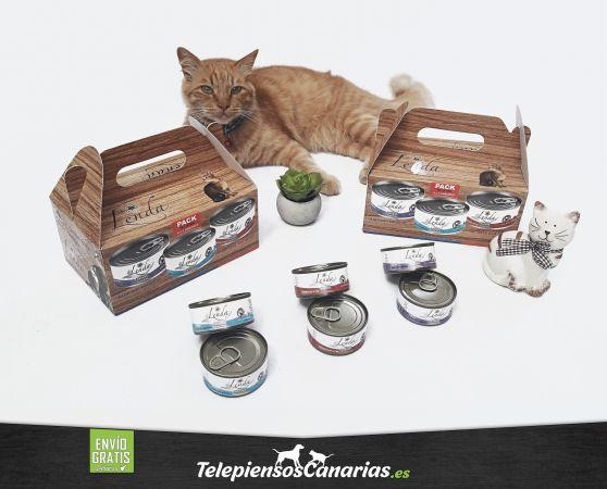 Lenda alimento húmedo para gatos