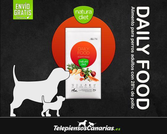 Natura diet daily food, pienso perros adultos con pollo