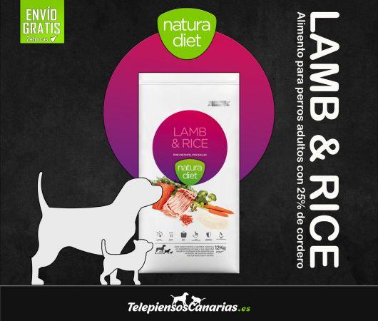 Natura diet pienso para perros adultos con cordero
