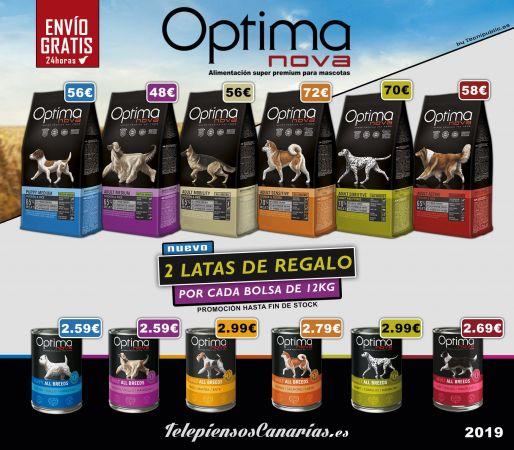 Optima Nova pienso para perros, con 2 latas de regalo