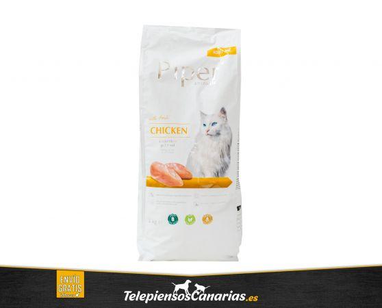 Piper alimento para gatos adultos de pollo