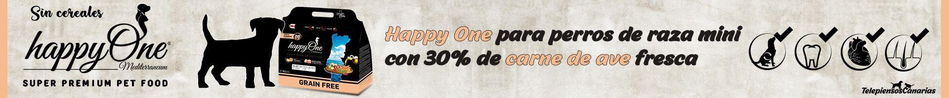 Happy One pienso para perros de raza mini con 30% de carne de ave fresca