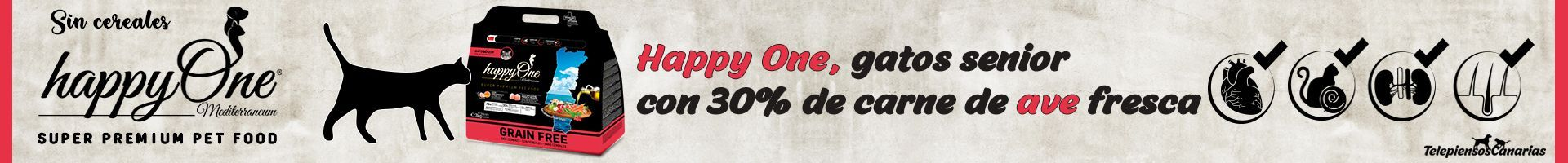 Happy One pienso gatos senior con 30% de carne de ave fresca