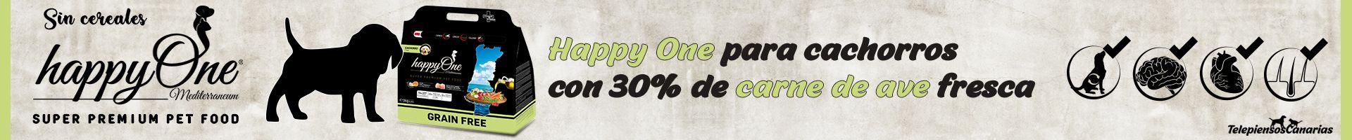 Happy One pienso cachorros con 30% de carne de ave fresca