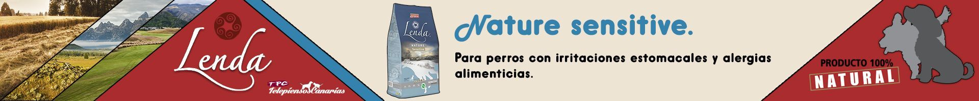 Lenda nature sensitive hipoalergénico para perros