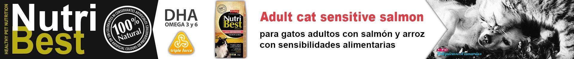 Nutribest cat adult sensitive, pienso de salmón para gatos