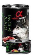 Alpha Spirit lata con 92% pato y 4% de kiwi