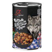 Alpha Spirit albóndigas para perro de jabalí y tomillo